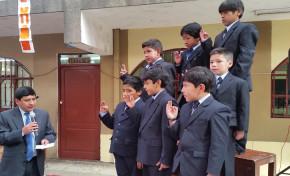 Presidente del TED Potosí posesiona a gobierno estudiantil de la unidad educativa Luis Felipe Manzano