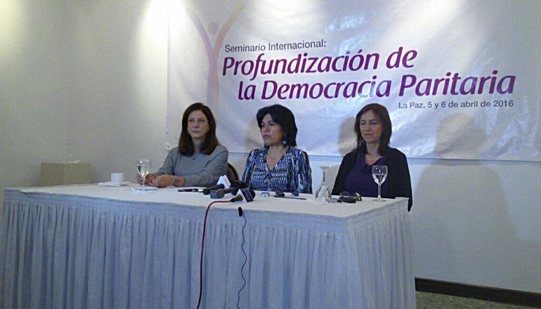 democracia paritaria conferencia de prensa