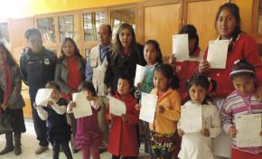SERECI de Oruro otorga certificados gratuitos a menores de centros de acogida