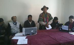 El SERECI Oruro inició campaña de certificados de nacimiento gratuitos en Pampa Aullagas