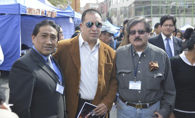 Presidente del TED de La Paz, Marcelo Valdez Alarcón – Rector de la UMSA, Waldo Albarracín