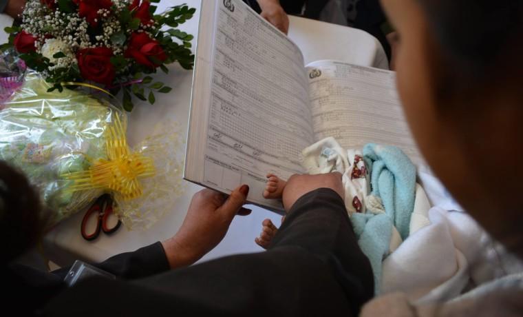 2. Inauguración de la caseta registral en la Caja Nacional de Salud Hospital Obrero, en Potosí.