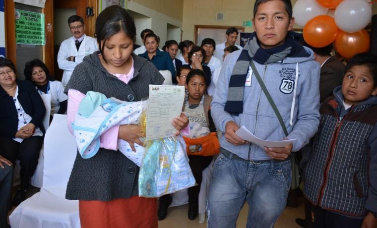 3. Inauguración de la caseta registral en la Caja Nacional de Salud Hospital Obrero, en Potosí.
