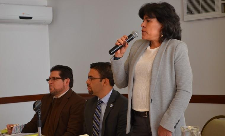 3. La presidenta del TSE, Katia Uriona, y el presidente del CNE Ecuador, Juan Pablo Pozo, en la inauguración del taller.