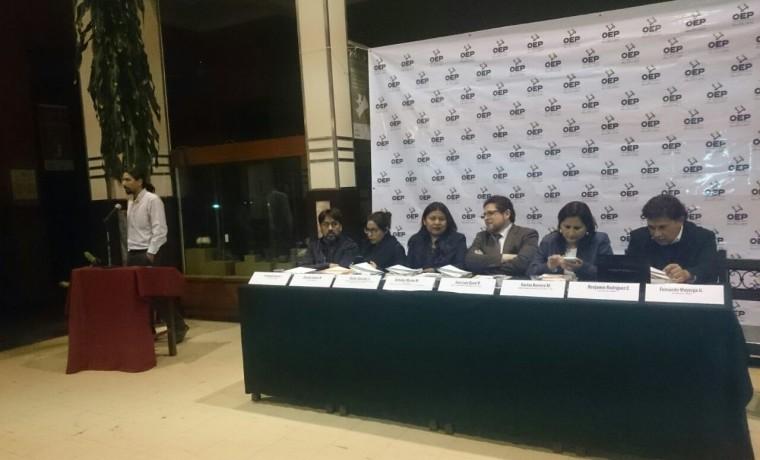 3. Presentación de las publicaciones en Cochabamba.