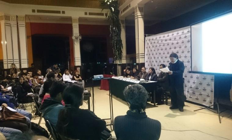 6 Presentación de las publicaciones en Cochabamba.