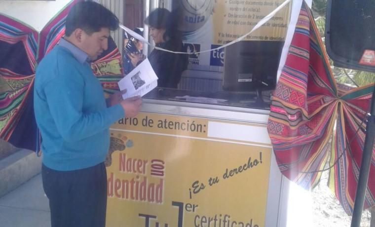 8. Inauguración de la caseta registral en el Hospital Civil Uncía, de Uncía.