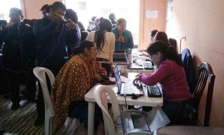 Durante la campaña de registro en Bermejo realizado del 29 de junio al 8 de julio.