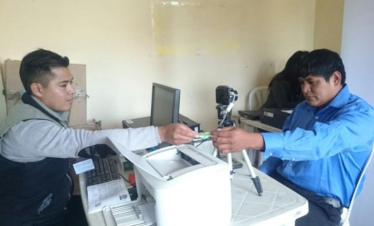1. Cochabamba. En Vinto se inauguró el registro en el padrón electoral.