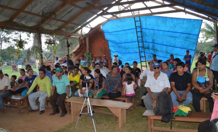 1. La asamblea interzonal del pueblo indígena Kabineño.
