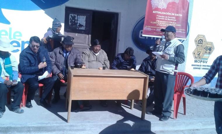 1. Oruro, Uru Chipaya. Inauguración del registro en el padrón electoral.