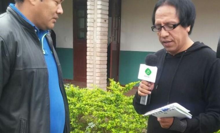 10. El presidente del Concejo Municipal de Charagua, Justo Mamani, en entrevista con Bolivia TV.