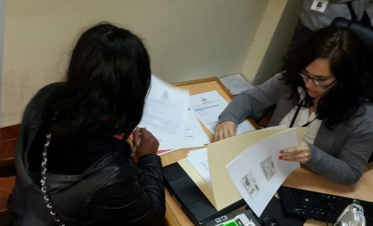 15. Recepción de la primera solicitud del cambio de nombre y dato del sexo en la partida de nacimiento, en el SERECI Tarija.