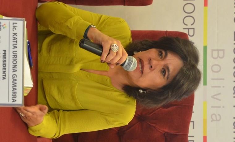 2. La presidenta del TSE, Katia Uriona.