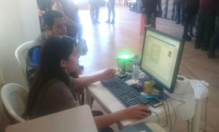 2. Tarija, Yacuiba. Inicio del registro en el padrón electoral.