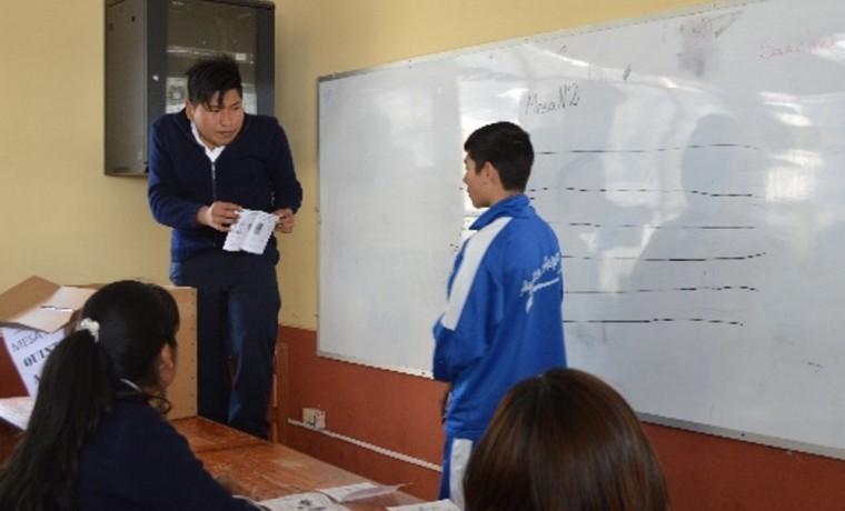3. Durante el escrutinio de votos.
