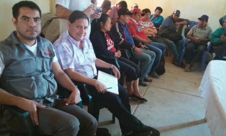 3. El Pdte. del TED Santa Cruz, Eulogio Núñez, durante la reunión  del OEP en la zona del Alto Isoso, en Charagua.