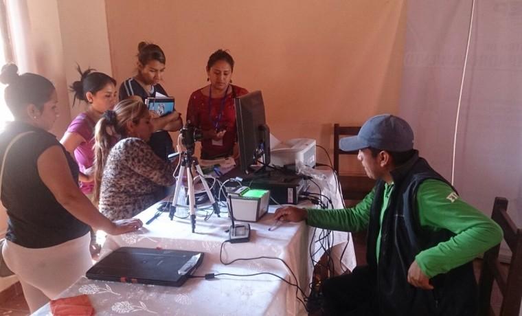 3. Tarija, Villa Montes. Inicio del registro en el padrón electoral.