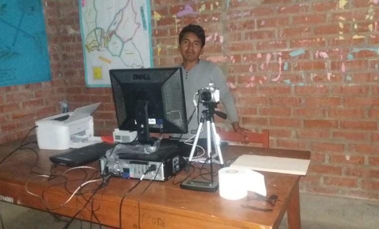 5. Cochabamba. Uno de los centros de registro en la TIOC Raqaypampa.