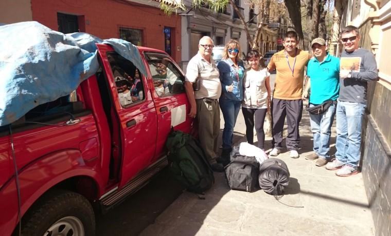 5. El quipo de empadronadores (Tarija).