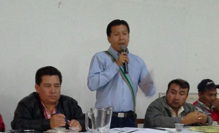6. El capitán grande, Ronald Andres Caraica, durante la Asamblea Interzonal realizada en Charagua.