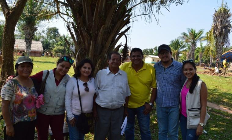 6. La delegación de técnicos del TSE y TED Santa Cruz que supervisó la asamblea.