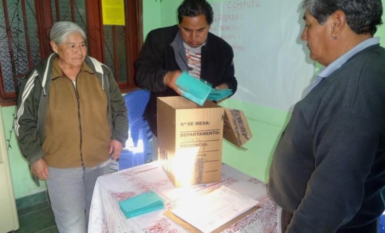 Acto de escrutinio y cómputo de los votos.