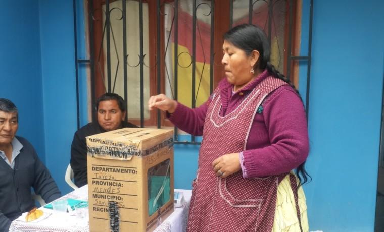Durante la jornada de votación.