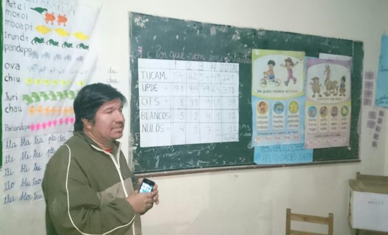 1. El conteo de votos en Charagua Estación.