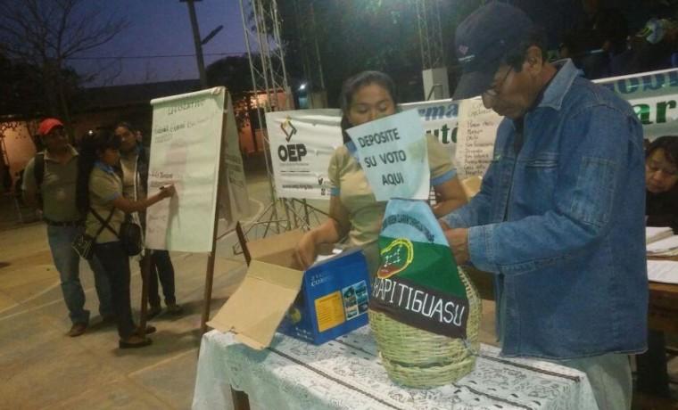 1. La elección en la zona Parapitiguasu se realizó por aclamación y voto secreto, el 30 de agosto.