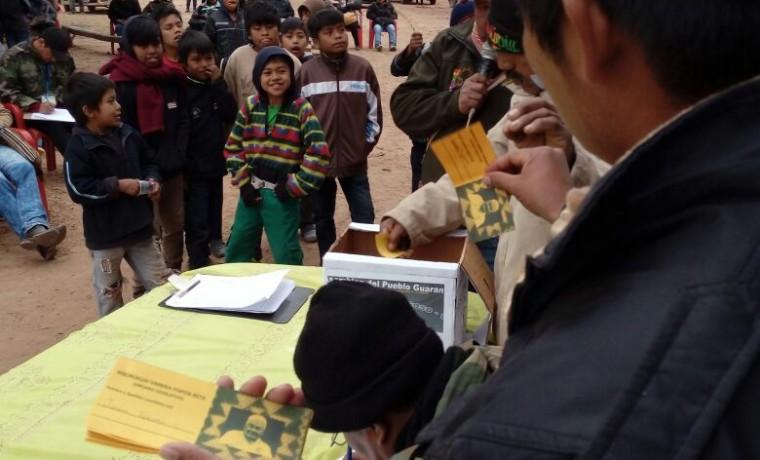 15. Las papeletas que usaron las y los delegados para emitir su voto.
