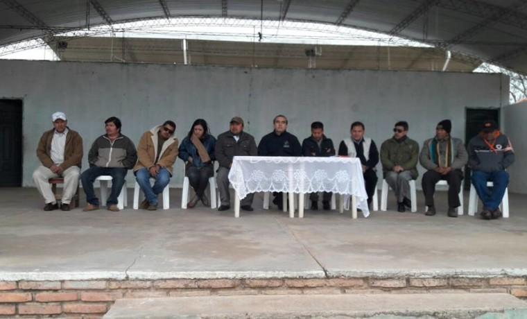 2. Las autoridades del Ejecutivo y legislatico nacional acompañaron la inauguración de la jornada en Charagua Estación.