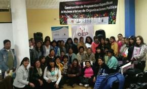 Potosí: proponen paridad y alternancia en instancias superiores de decisión de Organizaciones Políticas