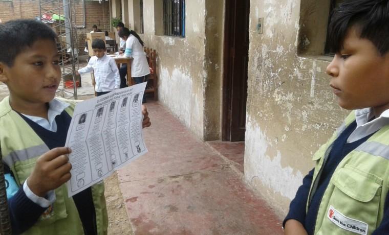 Elección en la unidad educativa Valle Hermoso. 1