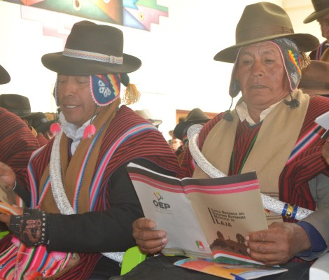 Comunarios de Laja dan lectura a la Carta Orgánica con miras al referendo del 9 de julio