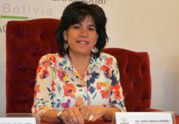 La presidenta del TSE, Katia Uriona, presenta informe de dos años de gestión