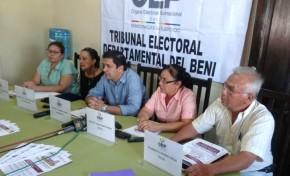 Rodolfo Coímbra asume la presidencia del Tribunal Electoral del Beni