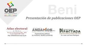 El Atlas Electoral, Andamios y Democracia (im)Pactada serán presentados en Beni