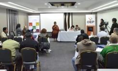 Vocales indígenas del OEP se reúnen para articular acciones que permitan fortalecer la democracia comunitaria