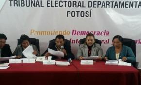 Edwin Aguayo y Petronilo Flores son electos en Potosí para el TSJ y el TCP