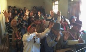 La Autonomía Indígena Originaria Campesina de Salinas aprueba el proyecto de su Estatuto Autonómico