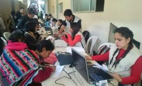 El TED Cochabamba emite  6.244 certificados de impedimento en una semana