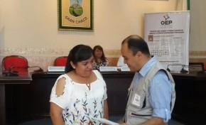 El TED Tarija entrega reconocimientos a las personas que coadyuvaron en el desarrollo de las Elecciones Judiciales 2017
