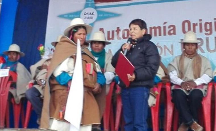 1. Eliana Quispe, del ayllu Aranzaya