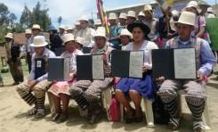 El TED Cochabamba entrega credenciales a las autoridades electas de Raqaypampa