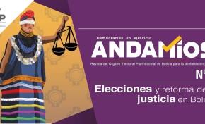 El OEP dedica el quinto número de la revista Andamios a analizar las elecciones y la reforma de la justicia en Bolivia