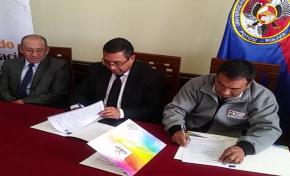 El TED Potosí y la Universidad Tomás Frías firman un convenio que posibilitará la práctica laboral de estudiantes