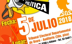 Socializan de la normativa contra el acoso y violencia política con actoras y actores políticos de Oruro