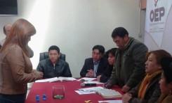 El TED Potosí sorteó la posición de las franjas en la papeleta para la elección de alcalde o la alcaldesa de Cotagaita