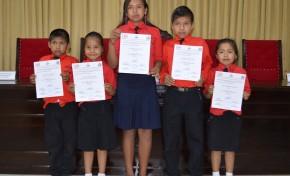 Beni: estudiantes de la comunidad Manguita recibieron sus credenciales como gobierno estudiantil